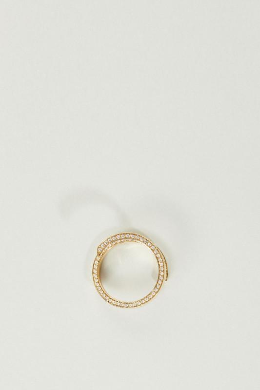 Ring 'Lua Oceane' mit Diamanten Gelbgold