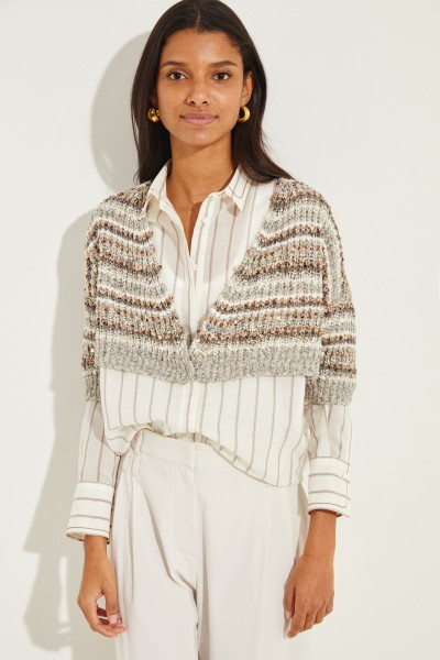 Cardigan with sequin details Grey/Multi