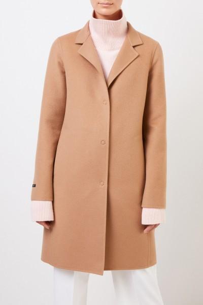 Manzoni 24 Classic cashmere-wool coat Camel