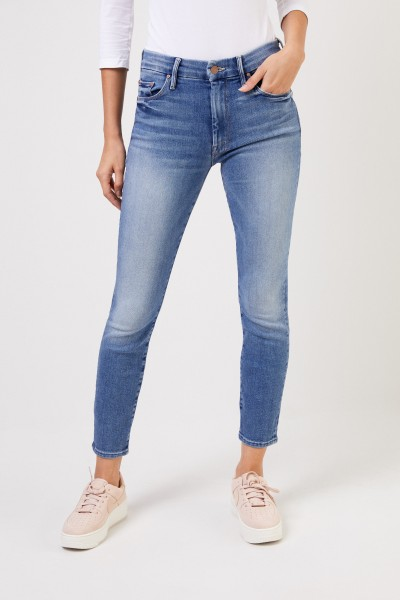 Mother Denim Jeans 'High Rise Looker' Blau