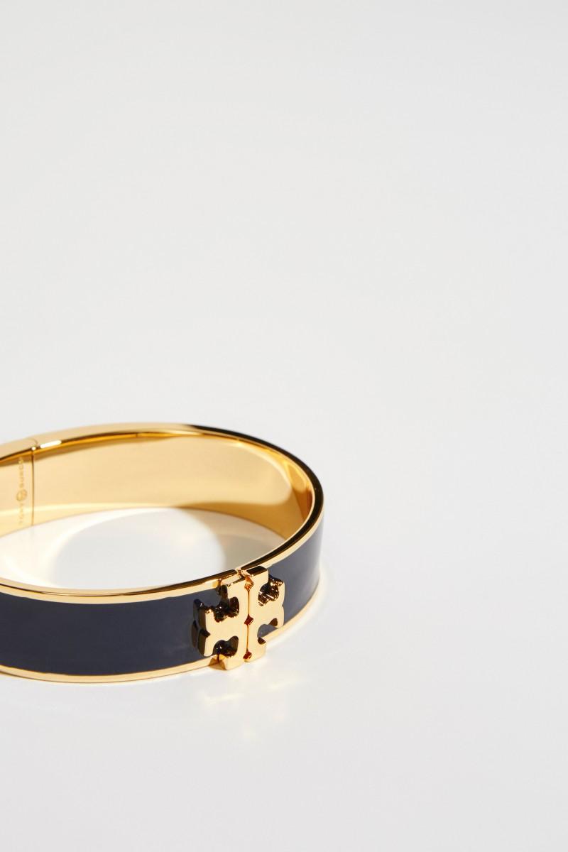 Emaille-Armreif mit Logo Gold/Blau