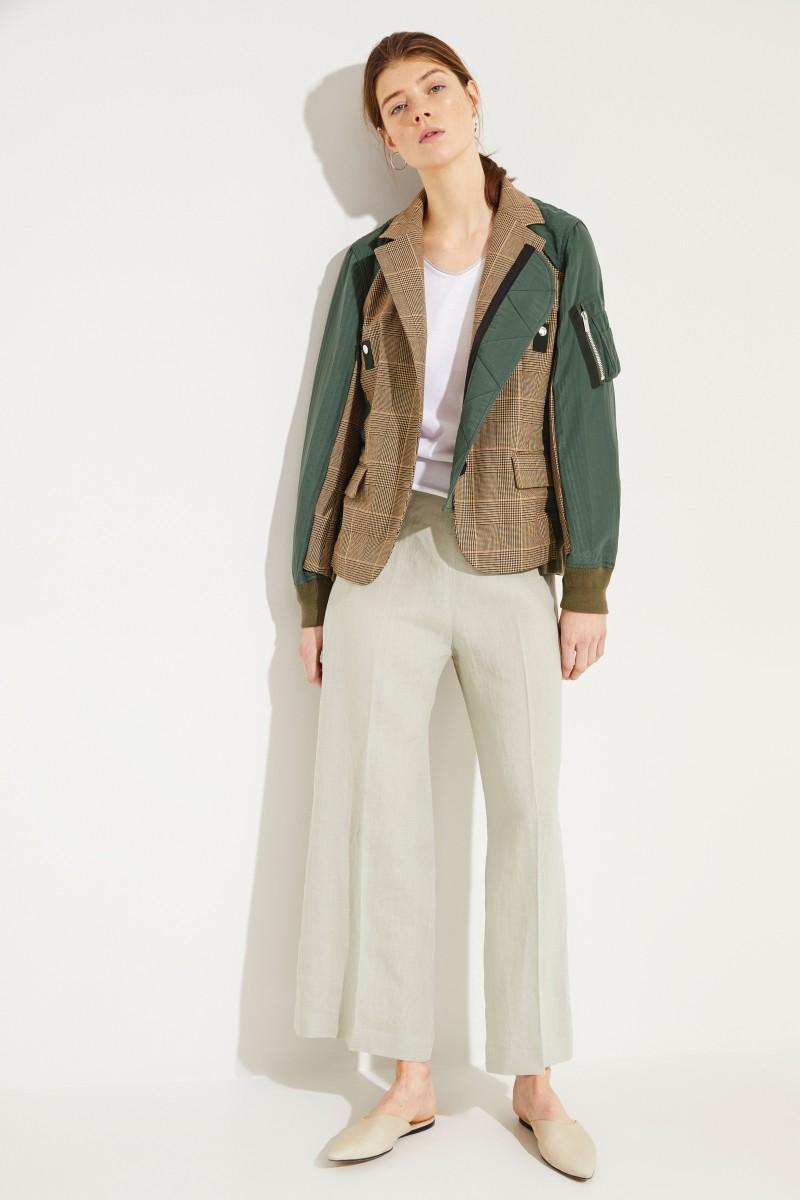 Baumwoll-Pullover mit Lurexdetails Weiß