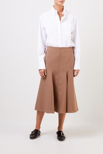 Joseph Midi wool skirt Brown