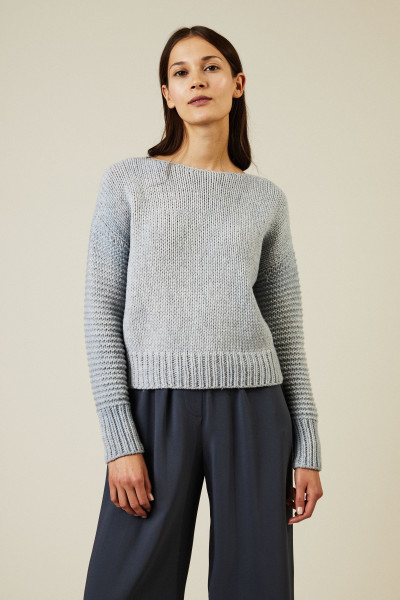 Cropped-Pullover Blau