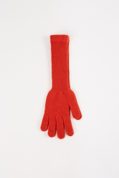 Uzwei Long wool cashmere gloves Orange