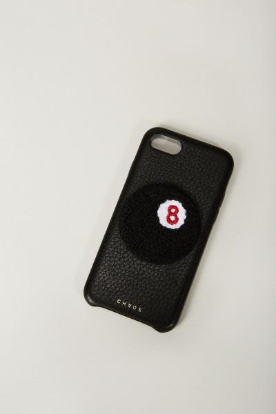 Iphone Case 7/8 mit rückseitiger Applikation Schwarz