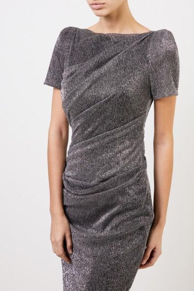 Talbot Runhof Kurzes Kleid mit Lurexdetails Silber