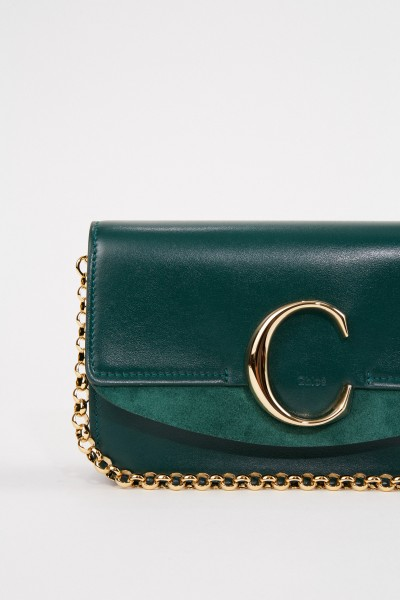 Chloé Shoulder bag 'C on chain' Rain Forest