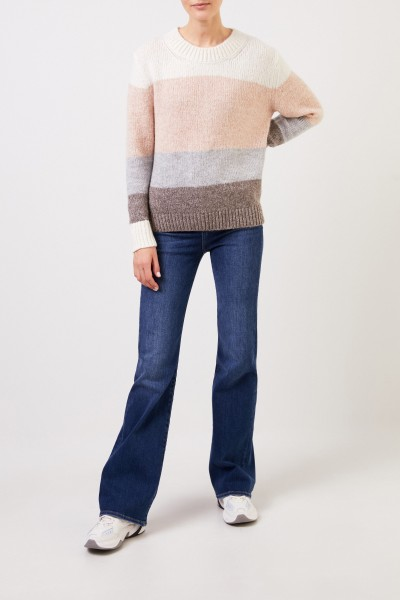 Allude Pullover with stripes Multi