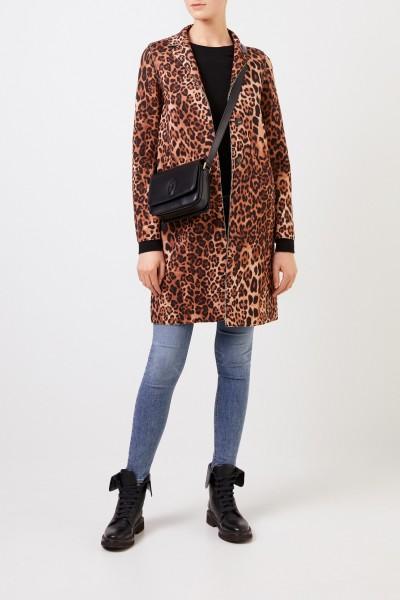Short coat with leoprint Multi