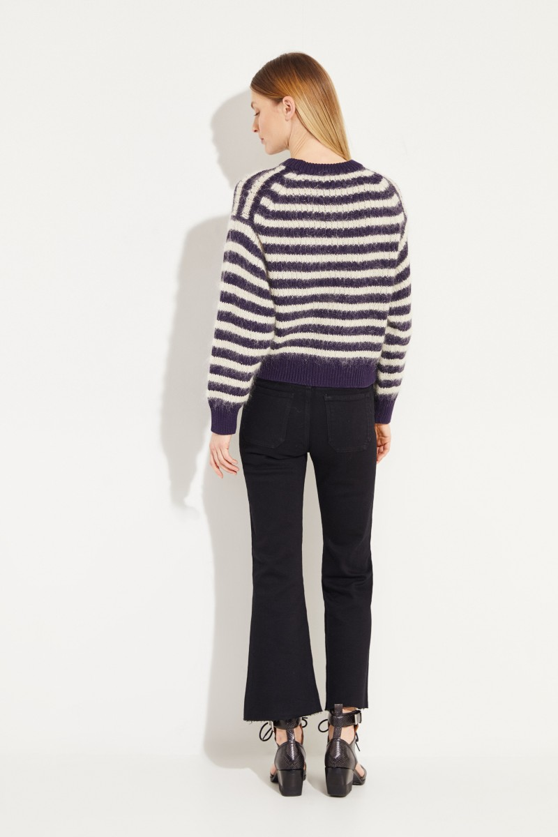 Gestreifter Pullover 'Kristen' Blau/Beige