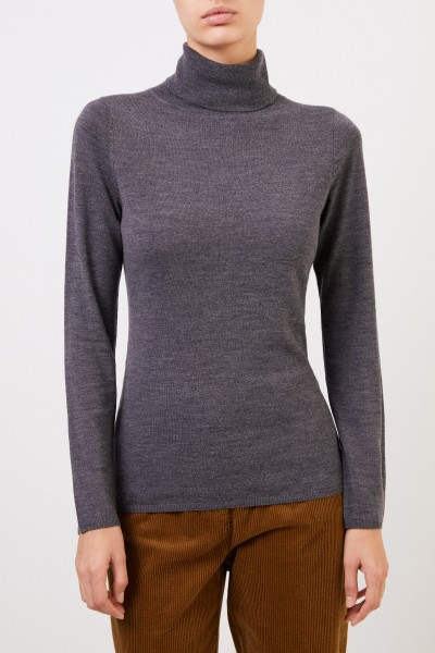 Allude Fine wool turtleneck sweater Anthracite