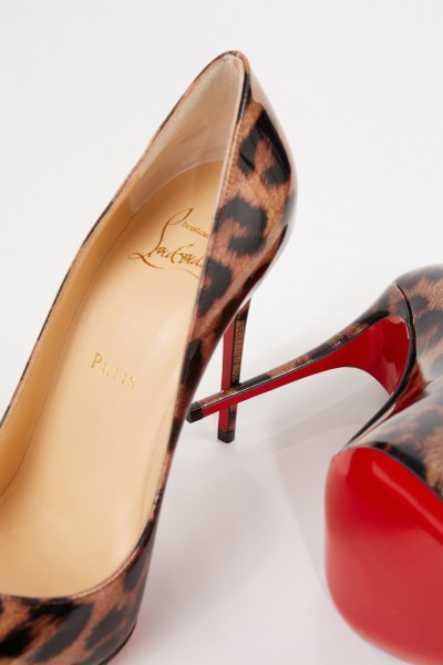 Christian Louboutin Pump 'Pigalle Follies 100' with Alloverprint Glitter/Leo