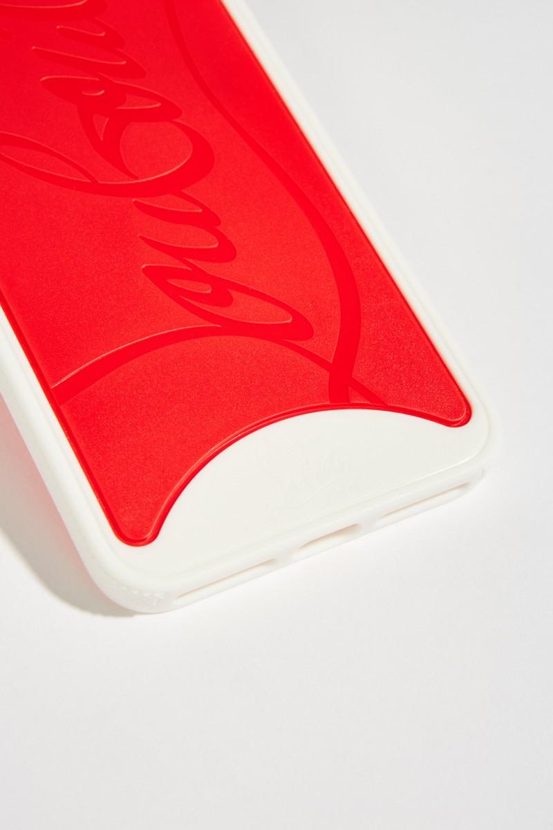 IPhone Case 7+/8+ mit Logo Rot/Weiß