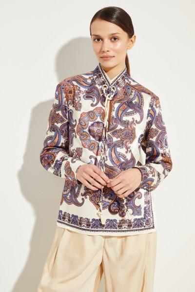 Bluse mit Paisleyprint Beige/Multi