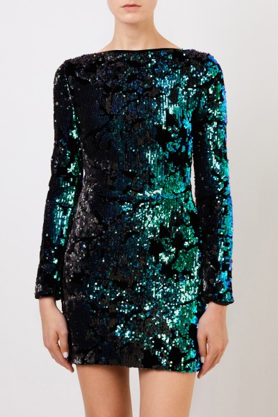 Talbot Runhof Short sequin dress Black/Multi