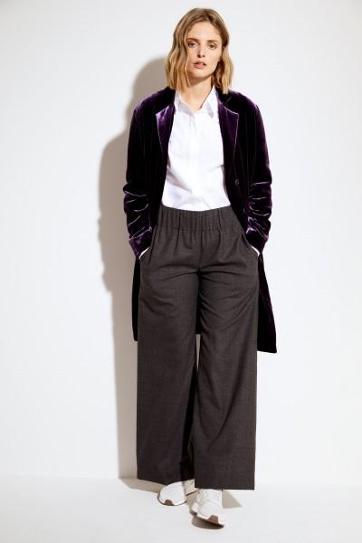 Samt-Mantel Violett