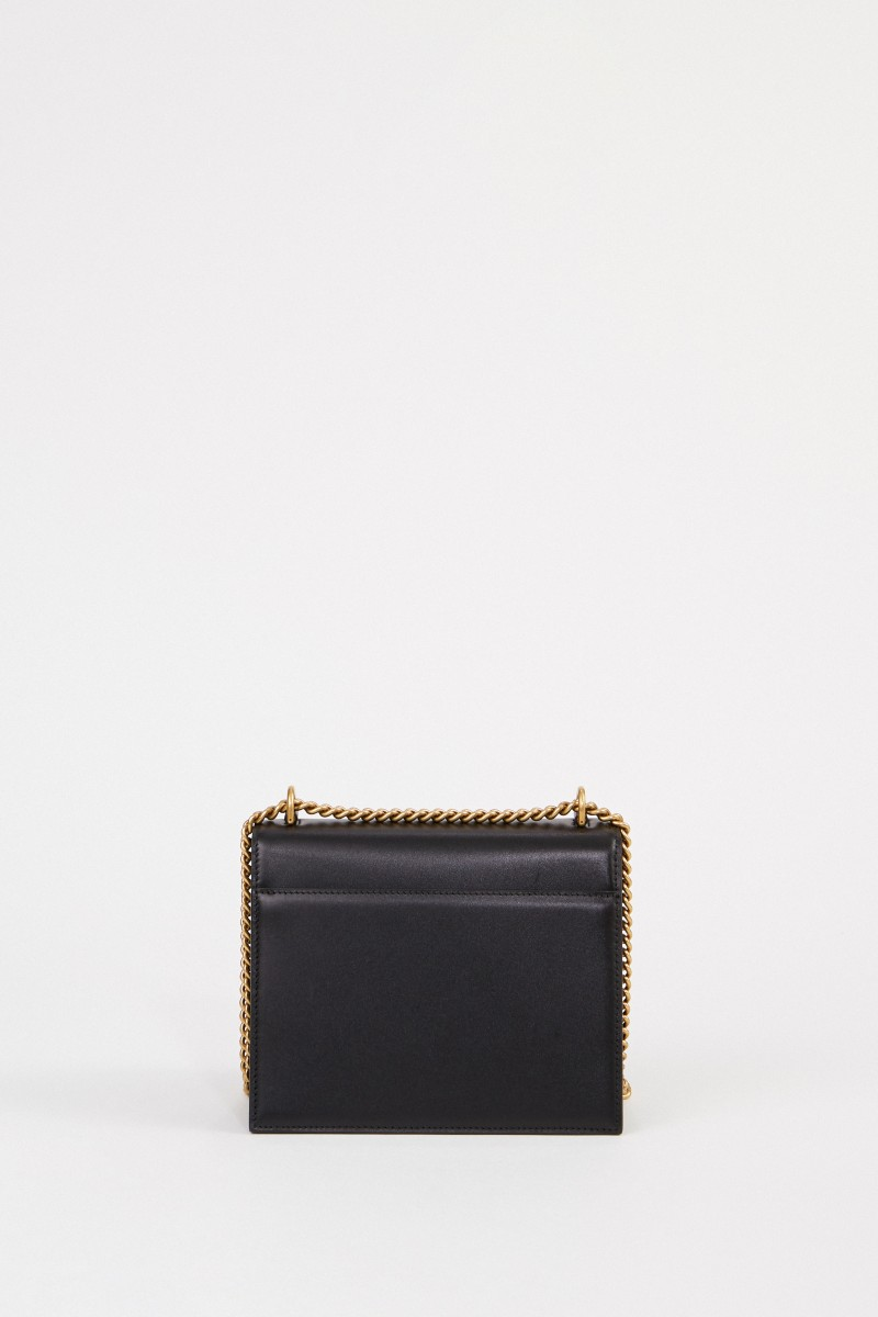 Balenciaga Leder-Tasche mit Kettenriemen Schwarz