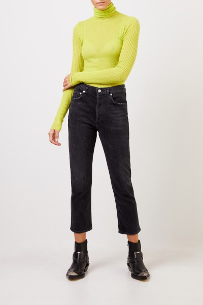 Joseph Cashmere-Sweater with turtleneck Lime