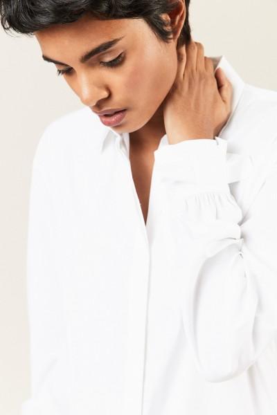 Bluse mit Schleifendetails Weiß