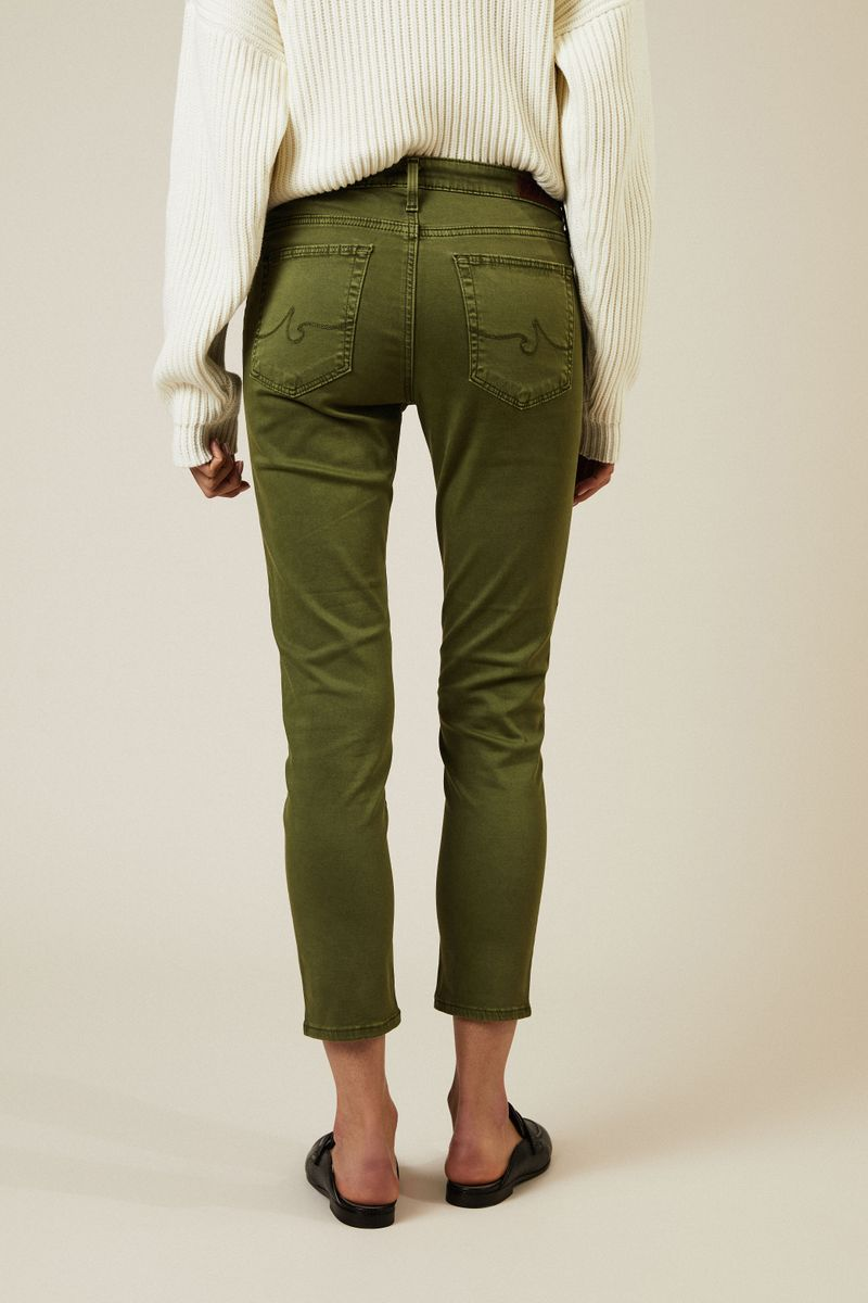 Cigarette Leg Jeans 'The Prima Cropped' Grün