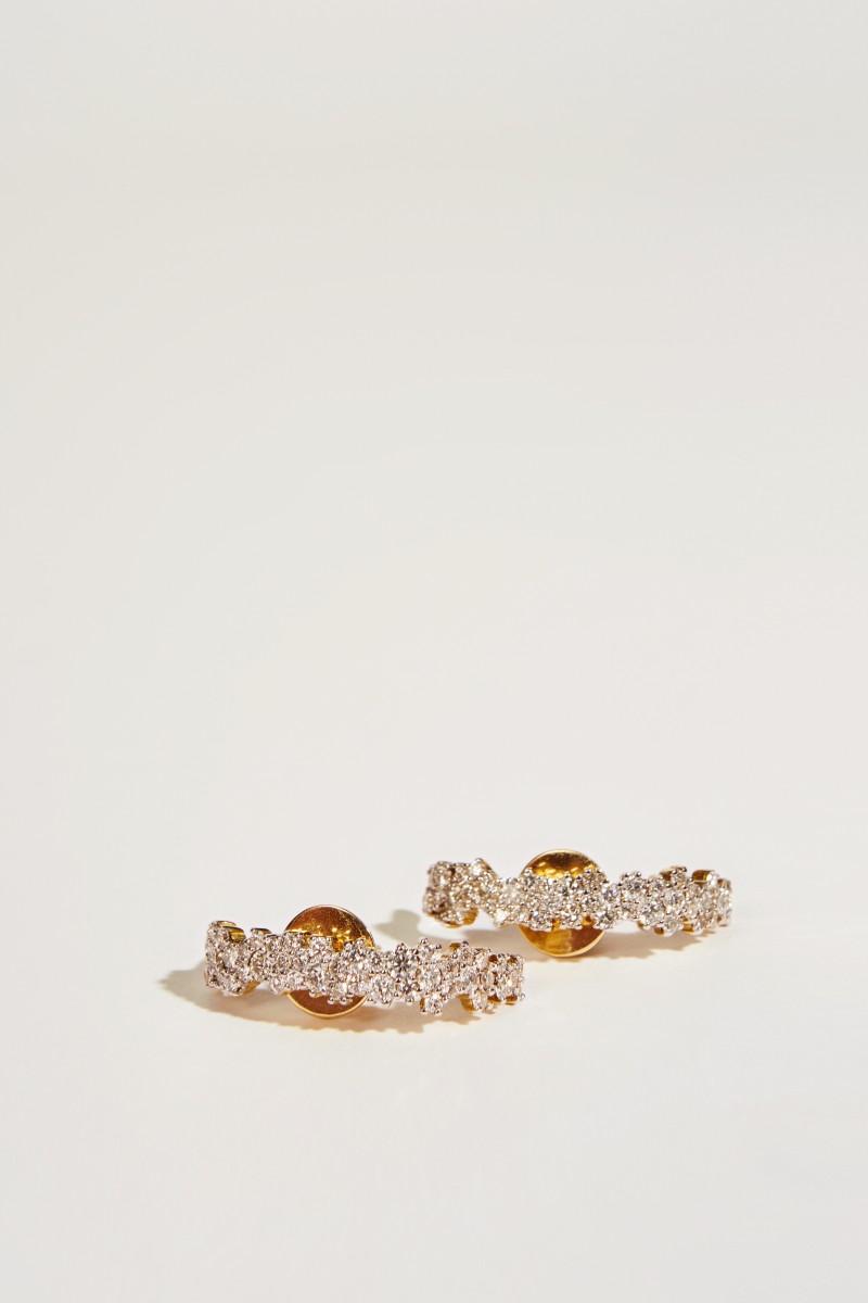 Ana Khouri Ohrring 'Mirian' mit Diamanten Gold
