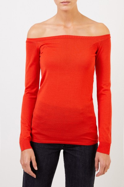Stella McCartney Wool longsleeve with submarine neckline Gipsy Red