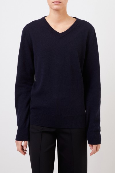 The Row Cashmere-Pullover 'Maley' mit V-Neck Marineblau
