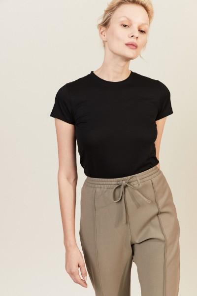 Baumwoll-Shirt Schwarz