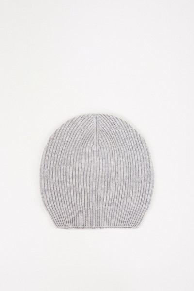 Fabiana Filippi Wool-Silk Knitted Cap Grey