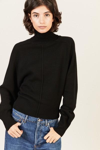 Cashmere-Woll-Pullover Schwarz