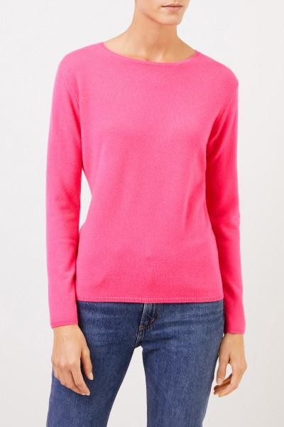 Uzwei Cashmere-Pullover mit R-Neck Pink