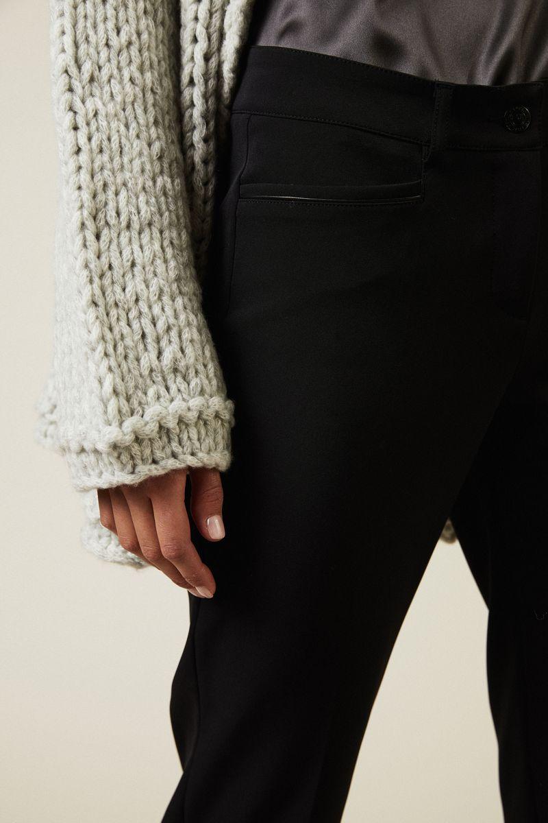 Hose mit umgeschlagenem Saum 'Renira' Schwarz