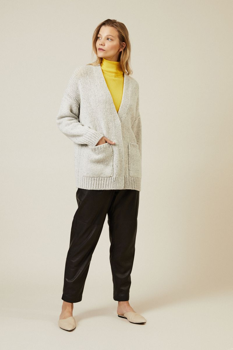 Cashmere Cardigan 'Nantucket' Grau