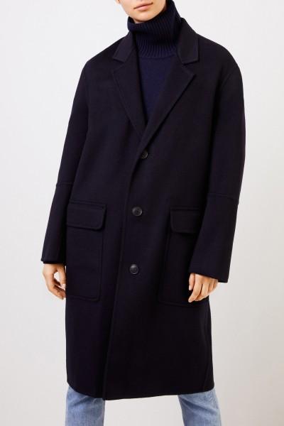 Ami Woll-Cashmere-Mantel Marineblau