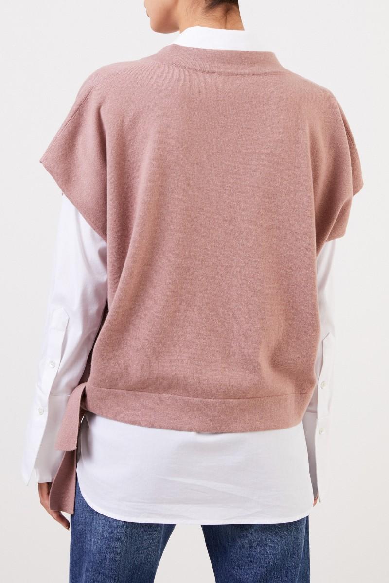 Fabiana Filippi Seiden-Cashmere Pullover Puder
