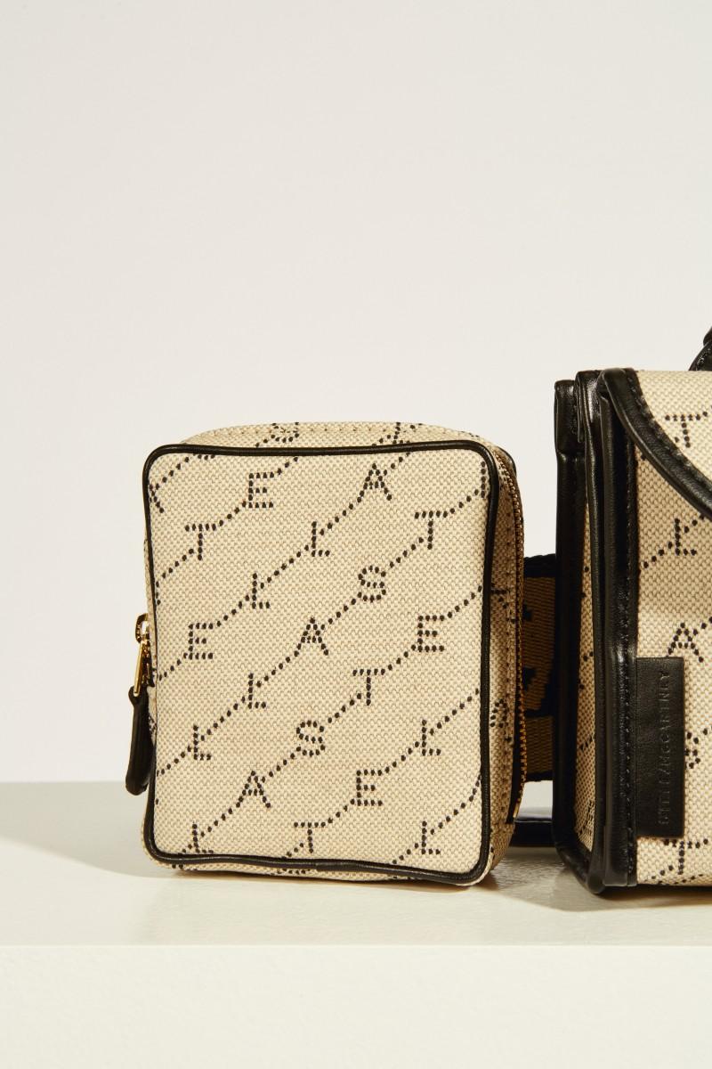 Gürteltasche 'Belt bag' mit Logo Beige/Schwarz