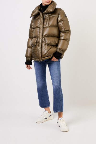 Down jacket with shine Black