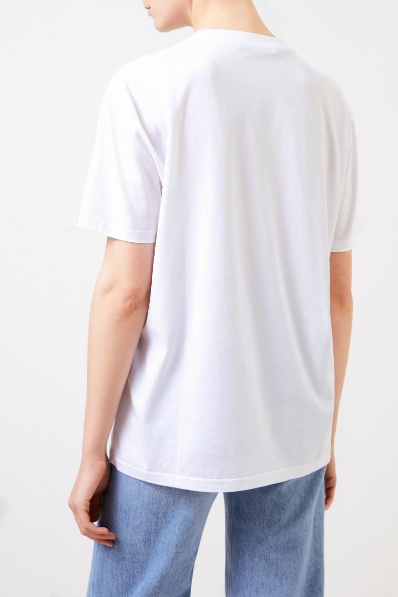 Givenchy T-Shirt mit Logo Weiß