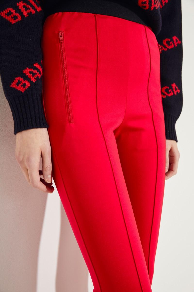 Balenciaga Elastische Hose mit Logo Rot