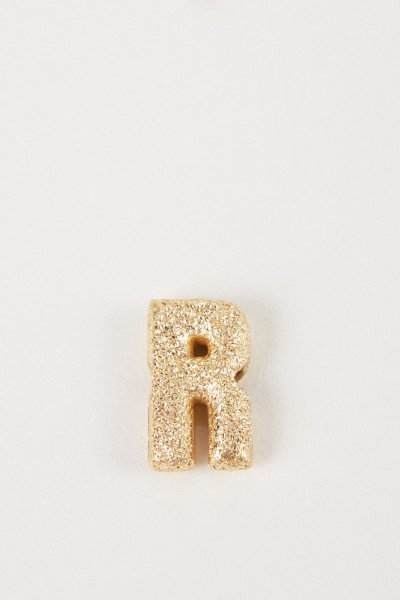 Carolina Bucci Pendant 'Sparkly Letter V' 18K yellow gold