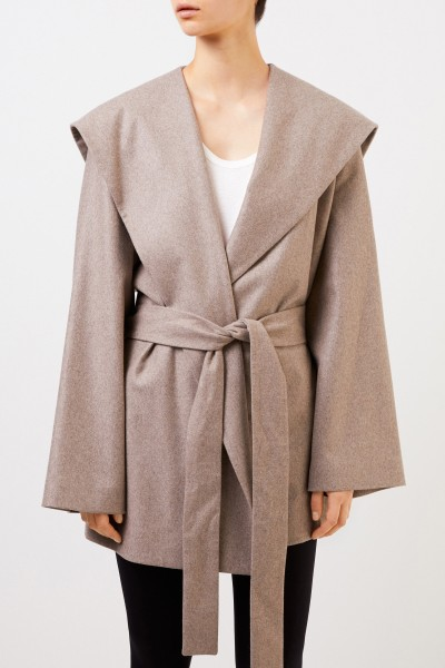 The Row Cashmere Coat 'Reyna' with Belt Taupe