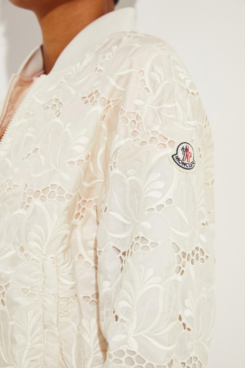 Jacke 'Tinote' mit Stickerei Crème