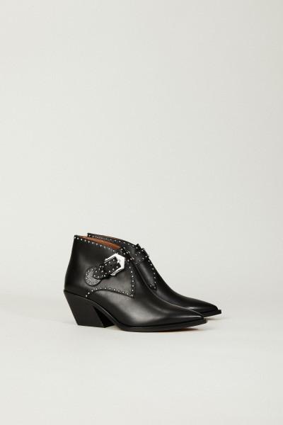 Verzierter Ankle Boots Schwarz