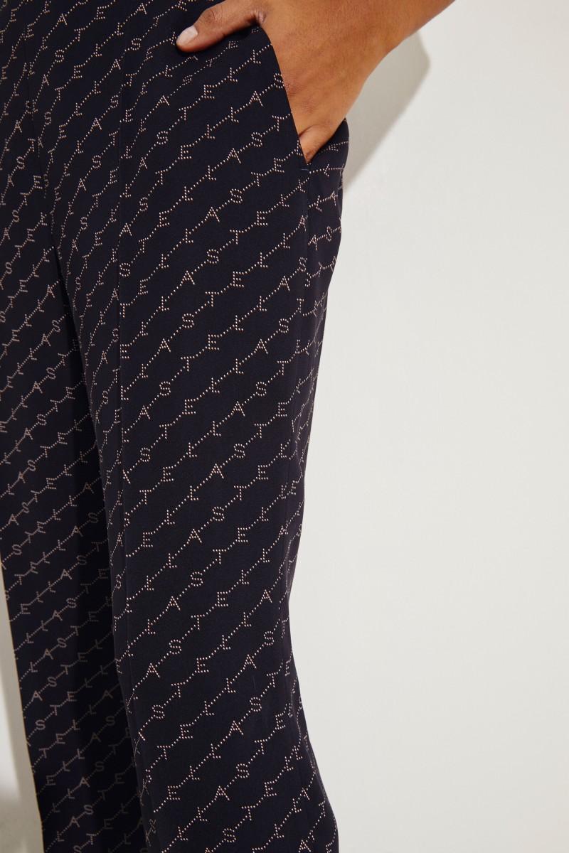 Hose mit Logo-Schriftzug Blau