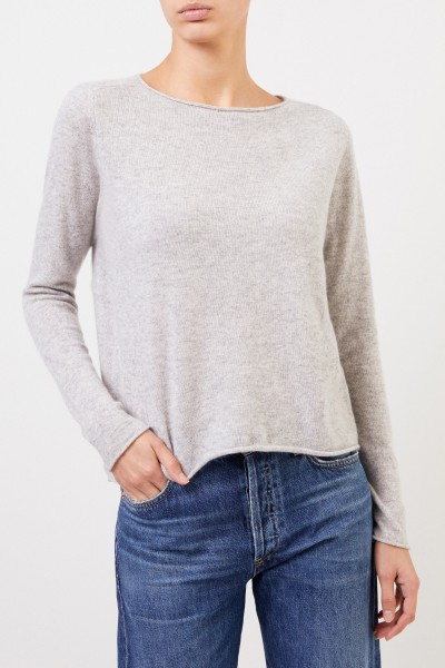 Allude Cashmere pullover Light Grey mottled
