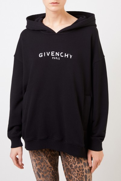 Givenchy Oversize hoodie with logo Black