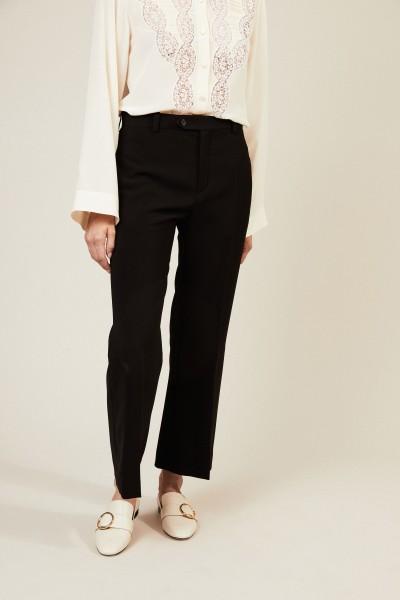 Klassische Hose mit Bügelfalten Schwarz