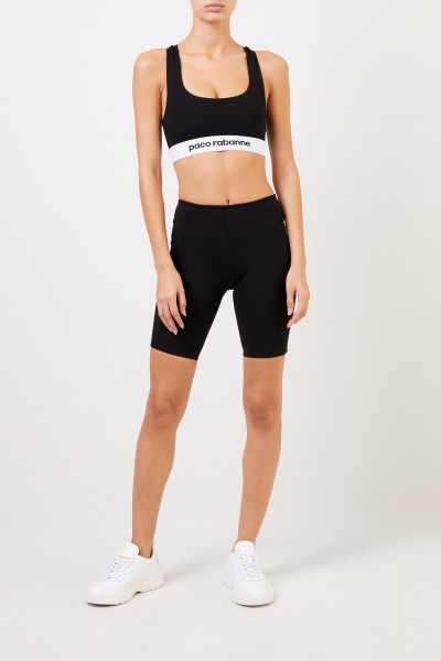 Paco Rabanne Shorts with logo Black