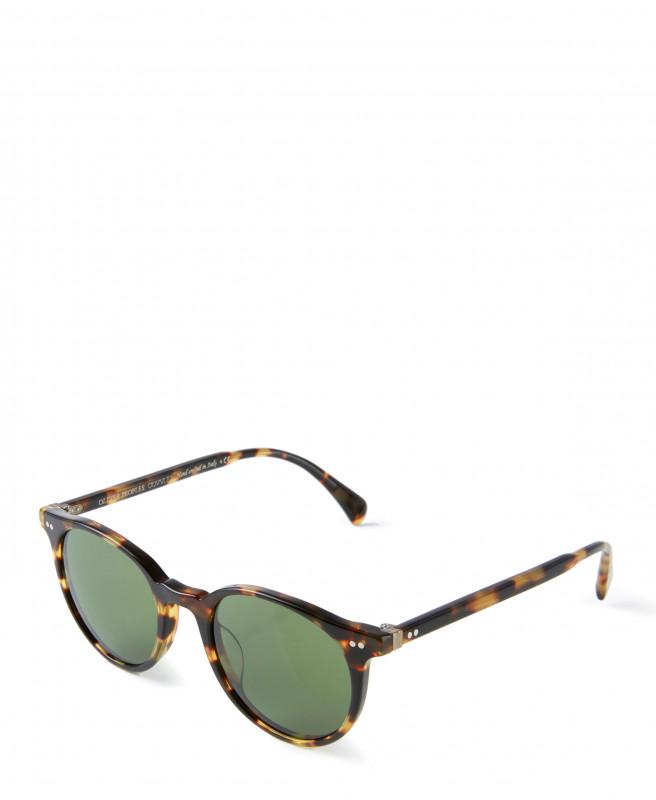Sonnenbrille 'Delrey' in Hornoptik Braun/Grün